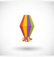 paper lantern flat icon festa junina vector image