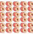 peach seamless pattern design vector image vector image