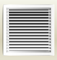 Photorealistic bathroom ventilation window vector image vector image