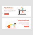 rehabilitation physical medicine landing page vector image vector image