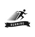 run man logo template of fast vector image