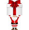 Santa Claus with a gift on white background vector image vector image
