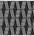 Seamless geometric op art pattern vector image vector image