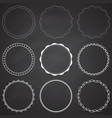 set 9 circle design frames borders circles vector image