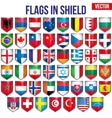 Set of Shield with flags vector image