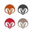 set simple monkey faces vector image