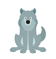 Sitting wolf vector image