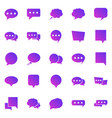 speech bubble gradient icons on white background vector image