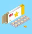 Star vitamins for show business Tablets in pack vector image vector image