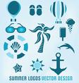 summer logos design vector image vector image
