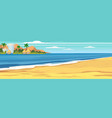 summer seascape beach summer vacation holiday vector image vector image