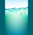 transparent air bubbles under the water vector image