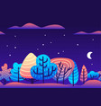 trendy flat with violet vector image