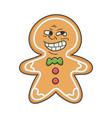 trolling meme christmas ginger bread cookie vector image vector image