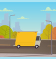 truck delivery services vector image