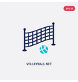 two color volleyball net icon from outdoor vector image