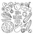 vegetables monochrome nutrition diet vector image vector image