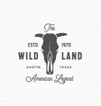 wild land abstract sign symbol or logo vector image vector image