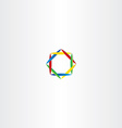 abstract business logo square circle colorful vector image