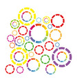 colored bubbles background icon vector image