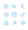 3d realistic primitives composition vector image