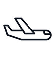 airplane icon isolated on white background vector image vector image