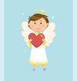 angel with heart valentines day symbol cupid vector image vector image