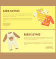 baby clothes jumpers web vector image vector image
