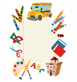 Back to school tools vector image vector image