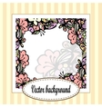 Beautiful floral frame with stripes vector image vector image