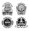 beer and brewery vintage emblems labels badges vector image vector image