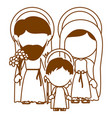 brown silhouette of faceless image of sacred vector image vector image
