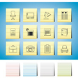 business and firm icons vector image vector image