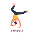 capoeira brazil national fighting art dance and vector image