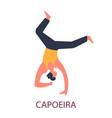 capoeira brazil national fighting art dance vector image vector image