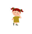 cartoon character of a shy girl vector image vector image