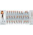 cartoon flat business girl character set vector image vector image
