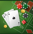 casino poker table vector image vector image