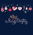 christmas with traditional vector image vector image