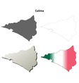 Colima blank outline map set vector image vector image