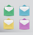 colorful envelopes vector image vector image
