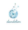 concept dandelion vector image vector image