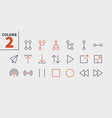 control ui pixel perfect well-crafted thin vector image vector image