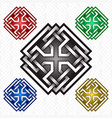 cruciform rhombus logo template in celtic knots vector image vector image