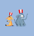 democratic and republican mascots for american vector image