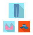 design of woman and clothing symbol vector image