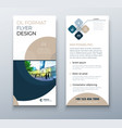 dl flyer design coral business template vector image