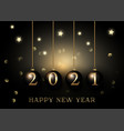 elegant gold and black happy new year background vector image vector image
