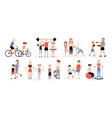 family sports activity collection mothers and vector image vector image