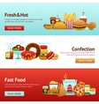 Fast Food Banner Set vector image